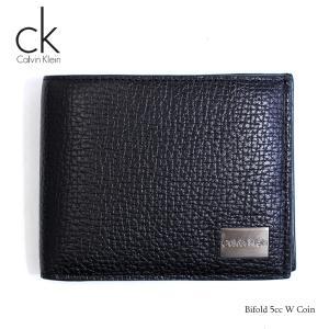 カルバンクライン Calvin Klein 財布 二つ折り財布 メンズ 二つ折り 札入れ ブラック 黒 レザー 革 本革 Bifold 5cc W Coin ブランド fashion-labo