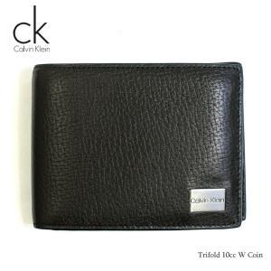 カルバンクライン Calvin Klein 財布 二つ折り財布 メンズ 二つ折り 札入れ ブラック 黒 レザー 革 本革 Trifold 10cc W Coin ブランド fashion-labo