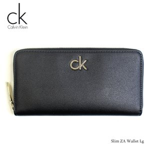 カルバンクライン Calvin Klein 財布 長財布 メンズ ラウンド 札入れ ブラック 黒 レザー Slim ZA Wallet Lg メンズ ブランド fashion-labo