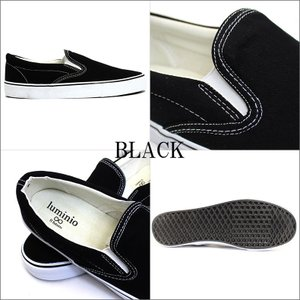 メンズ スリッポン カジュアル シューズ 靴 ルミニーオ スニーカー luminio グレー ホワイト ブラック デニム スター ストライプ lufo3737|fashion-labo|14