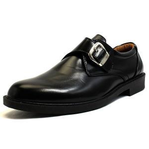 シューズ ビジネスシューズ メンズ 軽量 防水 モンクストラップ おすすめ コスパ 革靴 黒 3E luminio ルミニーオ|fashion-labo