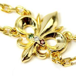 エントリーでポイント10倍 luminio ルミニーオ ブレスレット 百合の紋章 ユリ 天然ダイヤモンド ダイヤ 0.03ct シルバー925 950 ゴールド01015|fashion-labo