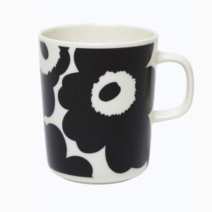 マリメッコ MARIMEKKO マグカップ ウニッコ 北欧 食器 コップ カップ ブラック ホワイト 白 黒 レディース 70741-190 UNIKKO 花柄 フラワー|fashion-labo