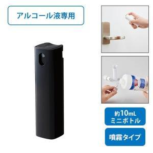 マークレススタイル MARKLESS STYLE 携帯用スプレーボトル10ml アルコール対応 ブラック メンズ レディース コンパクト アトマイザー ウイルス対策 LC-0029-001|fashion-labo