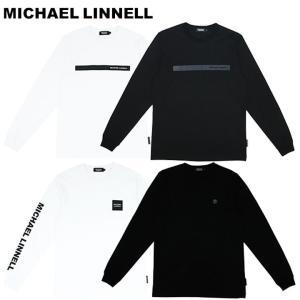 マイケルリンネル MICHAEL LINNELL Tシャツ メンズ 長袖 ロングTシャツ 丸首 ロゴ トップス コットン ブランド Mサイズ Lサイズ Arm Logo Long Sleeve T-shirt fashion-labo