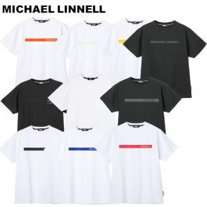 マイケルリンネル MICHAEL LINNELL Tシャツ メンズ 半袖 半そで 丸首 ロゴ トップス コットン ブラック ホワイト ブランド Sサイズ Mサイズ Lサイズ XLサイズ fashion-labo