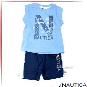 NAUTICA ノーティカ ボーイズノースリーブTシャツ パンツ 2ピース セットアップ ベビー服 n130346q fashion-labo