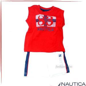 NAUTICA ノーティカ ボーイズノースリーブTシャツ パンツ 2ピース セットアップ ベビー服 n130351q fashion-labo