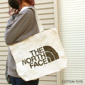 ノースフェイス トートバッグ THE NORTH FACE キャンバス コットン エコバッグ ロゴプリント メンズ レディース ブラウン ベージュ NF0A3VWQ R17 ロゴ ブランド|fashion-labo