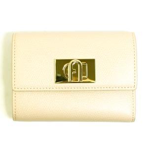 フルラ FURLA 財布 三つ折り財布 折りたたみ財布 1927 M pcw4aco-ar-b4 レディース ベージュ ゴールド カーフレザー 本革 ミニ財布 ブランド fashion-labo