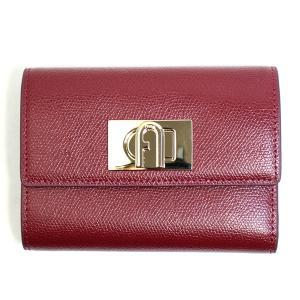 フルラ FURLA 財布 三つ折り財布 折りたたみ財布 1927 M pcw4aco-ar-cg レディース レッド ゴールド カーフレザー 本革 ミニ財布 ブランド fashion-labo