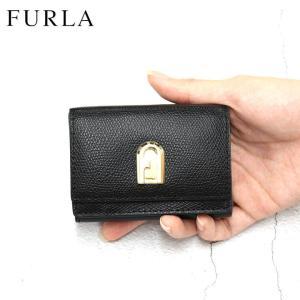 フルラ FURLA 財布 三つ折り財布 折りたたみ財布 ミニ財布 1927 S COMPACT WALLET TRIFOLD レディース ブラック 黒 レザー 本革 ブランド fashion-labo
