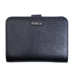 フルラ FURLA 財布 二つ折り財布 折りたたみ財布 バビロン pcy0uno-b3-o6 レディース ブラック ゴールド サフィアーノレザー 本革 ブランド fashion-labo