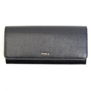 フルラ FURLA 財布 長財布 フラップ長財布 二つ折り長財布 サフィアーノレザー 本革 バビロン レディース ブラック 黒色 ロゴ ブランド pcy3uno-b3-o6 fashion-labo