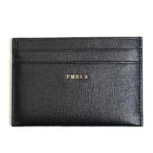 フルラ FURLA カードケース 名刺入れ レザー ブラック 黒 バビロン PCZ2UNO B30000 BABYLON Sサイズ レディース メンズ 本革 スリム fashion-labo