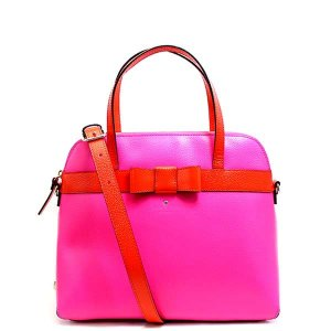 ケイトスペード バッグ トートバッグ レディース A4 2way ショルダーバッグ ピンク レッド レザー 本革 kate spade ブランド アウトレット リボン 4676 fashion-labo