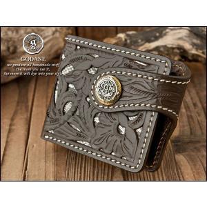 値下げ 財布 レザー GODANE ゴダン メンズ 二つ折財布 ショートウォレット 透かし彫りカービング&ダイヤモンドパイソン 003 fashion-labo