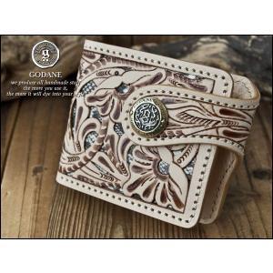 GODANE ゴダン 透かし彫りカービング&ダイヤモンドパイソン 二つ折財布 ショートウォレット メンズ 003 fashion-labo