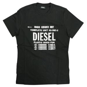 ディーゼル DIESEL Tシャツ シャツ メンズ 半そで 半袖 ロゴ  ブラック 黒 トップス 人気 ブランド 00SXE6 0091 900 T-DIEGO-B6 fashion-labo
