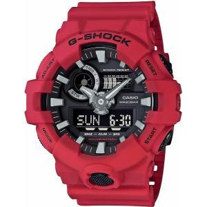 カシオ CASIO 正規品 時計 腕時計 G-SHOCK Gショック メンズ レッド ブランド GA-700-4AJF ANALOG-DIGITAL GA-700 SERIES アナデジ|fashion-labo