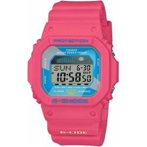 カシオ CASIO 正規品 時計 腕時計 G-SHOCK Gショック ジーライド サイドグラフ メンズ ピンク スポーツ サーフィン ブランド GLX-5600VH-4JF G-LIDE|fashion-labo
