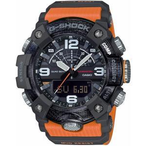 カシオ CASIO 正規品 時計 腕時計 G-SHOCK Gショック メンズ ブランド GG-B100-1A9JF MASTER OF G-LAND MUDMASTER アナデジ オレンジ|fashion-labo