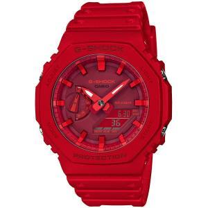 カシオ CASIO 正規品 時計 腕時計 G-SHOCK Gショック GA-2100-4AJF カーボンコアガード メンズ レッド 20気圧防水 ブランド tsk1002309 GA-2100 SERIES|fashion-labo