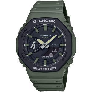 カシオ CASIO 正規品 時計 腕時計 G-SHOCK Gショック GA-2110SU-3AJF ユーティリティカラー カーボンコアガード構造 メンズ グリーン ブランド tsk1002360|fashion-labo