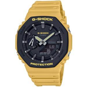 カシオ CASIO 正規品 時計 腕時計 G-SHOCK Gショック GA-2110SU-9AJF ユーティリティカラー カーボンコアガード構造 メンズ イエロー 防水 ブランド tsk1002361|fashion-labo