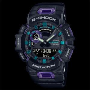 カシオ CASIO 正規品 時計 腕時計 G-SHOCK Gショック メンズ ブルートゥース GBA-900-1A6JF ANALOG-DIGITALGBA-900 SERIES ブラック パープル|fashion-labo