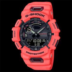 カシオ CASIO 正規品 時計 腕時計 G-SHOCK Gショック メンズ ブランド ブルートゥース GBA-900-4AJF ANALOG-DIGITALGBA-900 SERIES オレンジ|fashion-labo