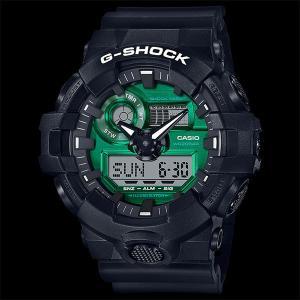 カシオ CASIO 正規品 時計 腕時計 G-SHOCK Gショック メンズ ブランド ブラック グリーン GA-700MG-1AJF ANALOG-DIGITALBlack and Green Series|fashion-labo