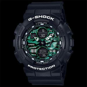 カシオ CASIO 正規品 時計 腕時計 G-SHOCK Gショック メンズ ブランド ブラック グリーン GA-140MG-1AJF ANALOG-DIGITALBlack and Green Series|fashion-labo