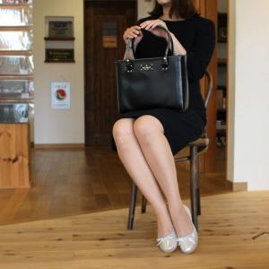 ケイトスペード バッグ トートバッグ レディース ブラック 黒 レザー 本革 ロゴ ブランド アウトレット kate spade 通勤 フォーマル 1428 fashion-labo