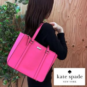 ケイトスペード kate spade バッグ トートバッグ レディース ピンク 蛍光ピンク レザー 本革 A4 ロゴ ブランド アウトレット 2101 fashion-labo