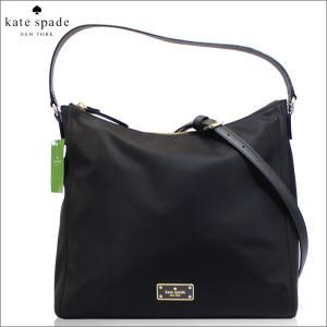 ケイトスペード KATESPADE バッグ ショルダーバッグ ナイロン レザー ブラック レディース ブランド A4 4060 セール 2018 秋冬 新作|fashion-labo
