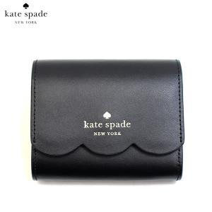 ケイトスペード KATE SPADE 財布 二つ折り財布 プラップ財布 ミニ財布 ジェマ wlr00553-001 レディース スムースレザー 本革 ブラック 黒色 ゴールド ブランド fashion-labo