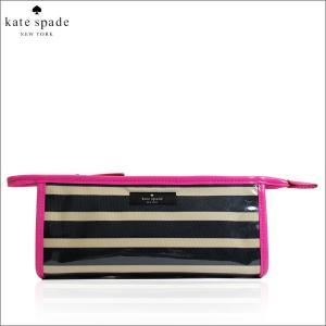 ケイトスペード kate spade コスメポーチ 化粧ポーチ 小物入れ ストライプ ボーダー 2294|fashion-labo
