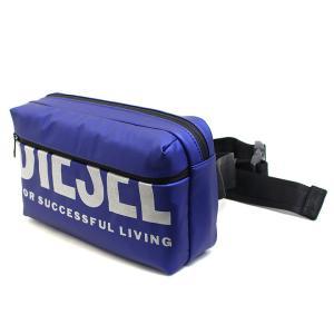 ディーゼル DIESEL バッグ ベルトバッグ ウエストポーチ メンズ ウエストバッグ ヒップバッグ ブルー BOLDMESSAGE F-BOLD BELTBAG コンパクト ブランド X07280 fashion-labo