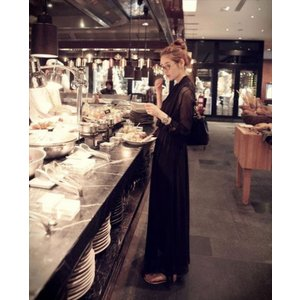 パーティードレス レディース シフォン ブラック ピンク ワンピース ワンピ 結婚式 パーティ 成人式 社交 お呼ばれ 花嫁 二次会 ドレス フォーマル カラードレス|fashion-shop-rinka|12