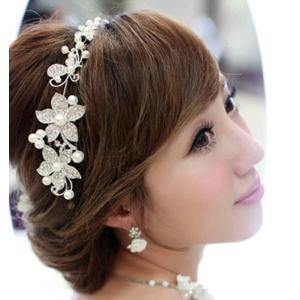 ヘッドドレス 髪飾り ヘアアクセサリー 花 パール 和装 着物 ウェディング ヘッドアクセサリー  ...