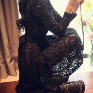 パーティードレス 10代 20代 30代 ワンピース おしゃれ フォーマル お呼ばれ 花柄 ラグジュアリー レース ブラック ワンピ ミニドレス 長袖 カラードレス ドレス|fashion-shop-seleb|03