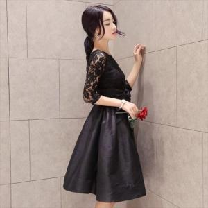 パーティードレス 10代 20代 30代40代 ワンピース おしゃれ フォーマル お呼ばれ シースルー 花柄 キャバ 秋冬 カラードレス 結婚式 成人式 セクシー レディース|fashion-shop-seleb|02