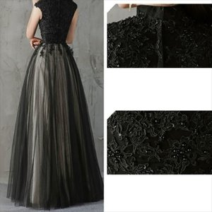 パーティードレス 10代 20代 30代 ワンピース おしゃれ フォーマル お呼ばれ 刺繍 花柄 ハイネック ブラック ロング ノースリーブ ワンピ セクシー カラードレス|fashion-shop-seleb|13