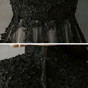 パーティードレス 10代 20代 30代 ワンピース おしゃれ フォーマル お呼ばれ 刺繍 花柄 ハイネック ブラック ロング ノースリーブ ワンピ セクシー カラードレス|fashion-shop-seleb|17