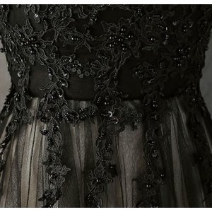 パーティードレス 10代 20代 30代 ワンピース おしゃれ フォーマル お呼ばれ 刺繍 花柄 ハイネック ブラック ロング ノースリーブ ワンピ セクシー カラードレス|fashion-shop-seleb|19