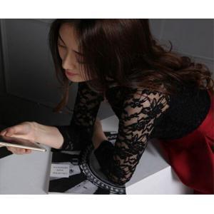 パーティードレス 10代 20代 30代 ワンピース おしゃれ フォーマル お呼ばれ 花柄 レース リボン フレア  ブラック レッド 黒 赤 ドレス ワンピ ミニドレス ミニ|fashion-shop-seleb|06