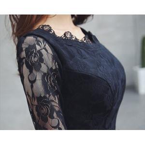 パーティードレス 10代 20代 30代40代 ワンピース おしゃれ フォーマル お呼ばれ レース シースルー カラードレス 結婚式 成人式 セクシー レディース キャバ|fashion-shop-seleb|09