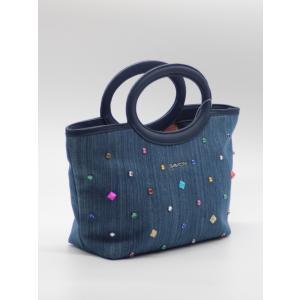 SAVOYサボイ バッグ 鞄 手提げ 小さめ コンパクト デニム キラキラ |fashion-yoshimura