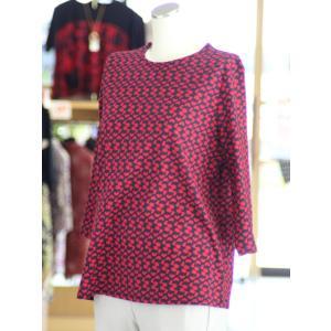 小柄プリントTシャツ ミセス 七分袖 綿100% 日本製 パンダ 50代 60代 70代 ファッション  fashion-yoshimura